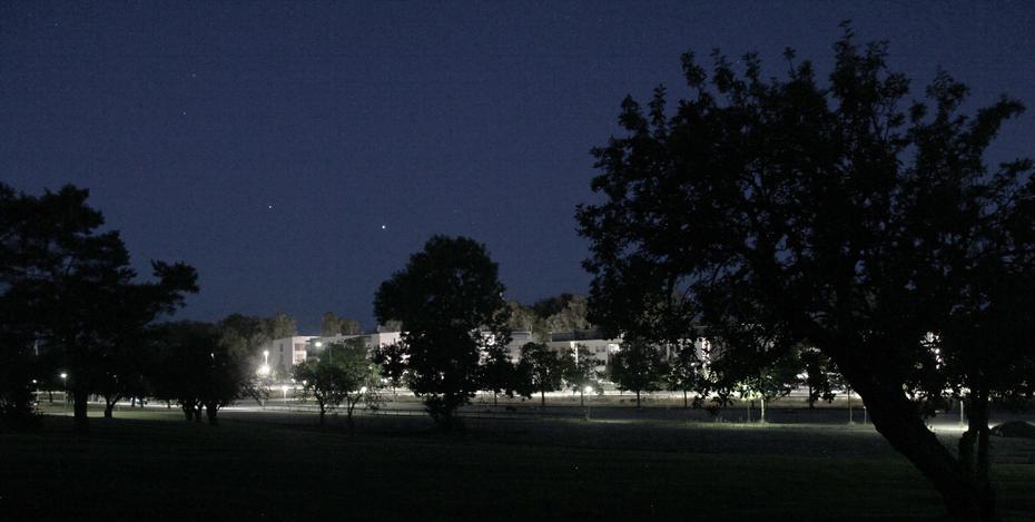 Jupiter och Saturnus 25 juli kl 00.40