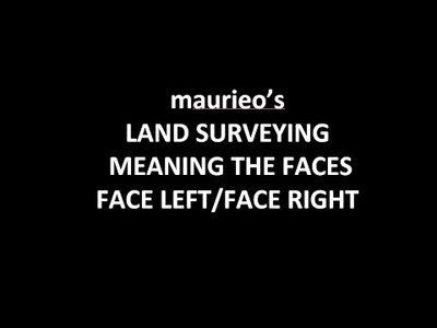 UnderstandingLAND SURVEYING MEANING THE FACES FACE LEFT/FACE RIGHT