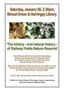 Talk: The History and Natural History of Railway Fields @Stroud Green and Harringay Library