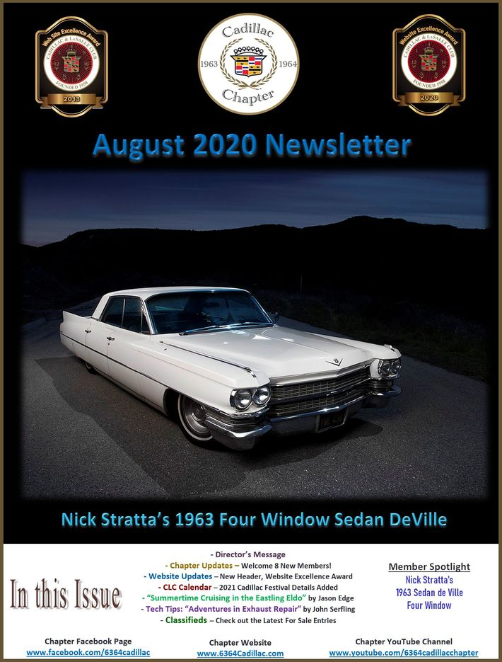 4/4 Cadillac Chapter August 4 Newsletter Posted - 4/4
