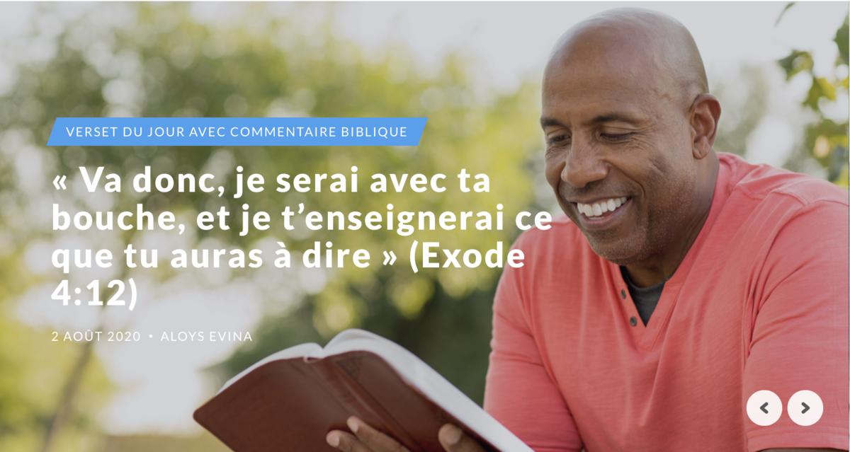 « Va donc, je serai avec ta bouche, et je t'enseignerai ce que tu auras à dire » (Exode 4:12)