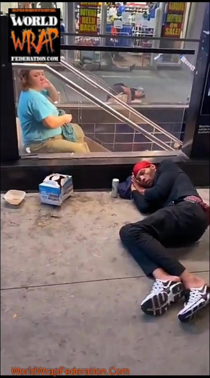 Homeless People Sleeping In Penn Station