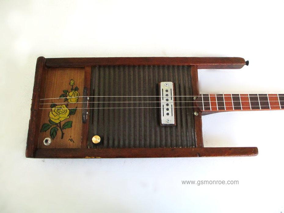 Yellow Rose Washboard guitar