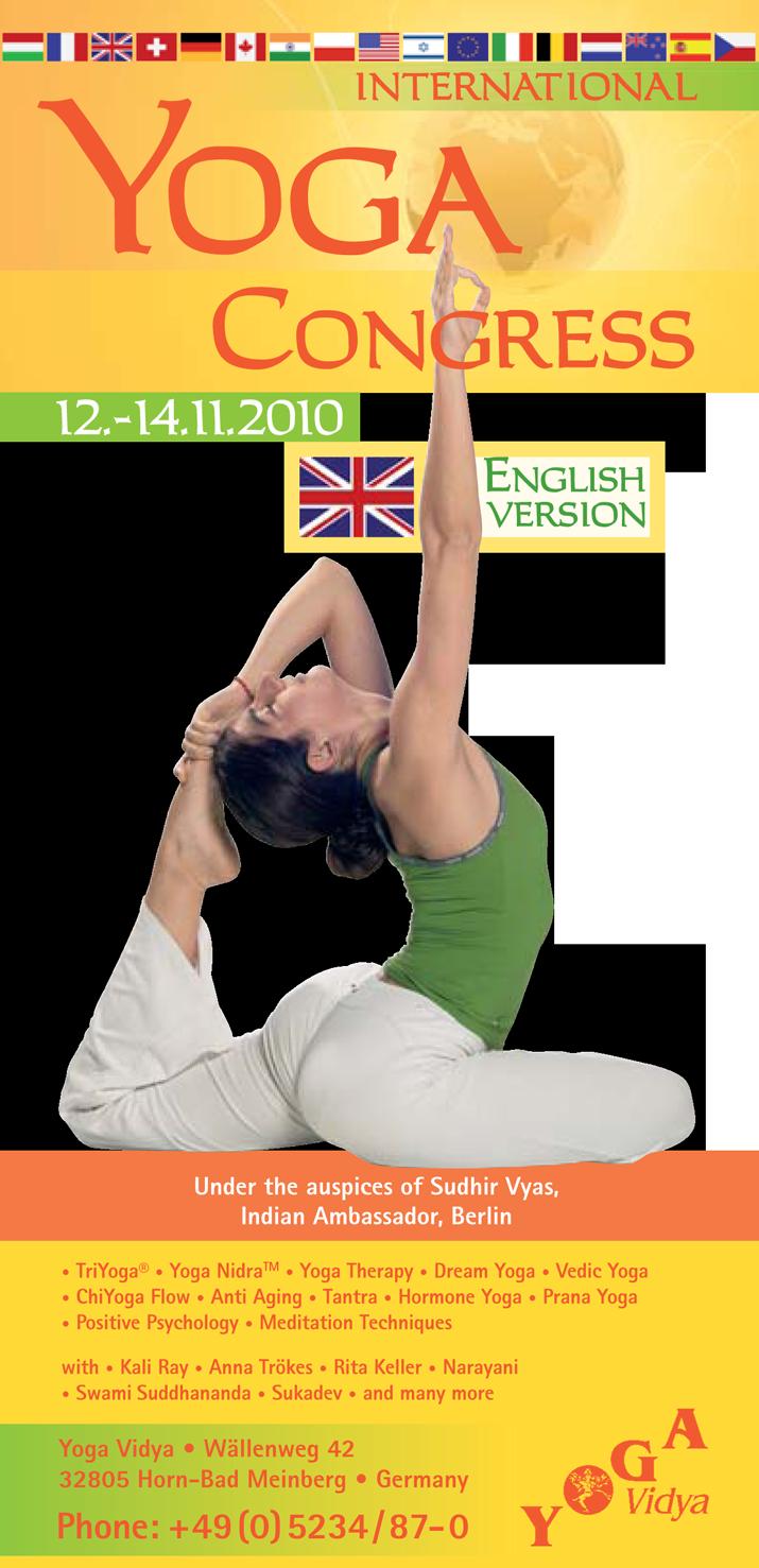 1. International Yoga Congress 2010 at Yoga Vidya in Bad Meinberg