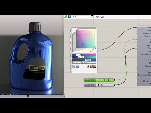 Rhino Product Rendering Demo: Cycles Grasshopper Shader