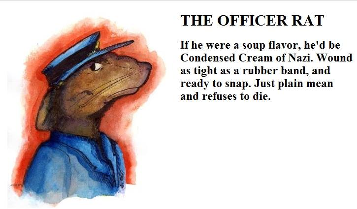 Officer Rat from A Whisker Past Midnight