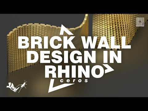 Brick Wall Design (Rhino Tutorial)