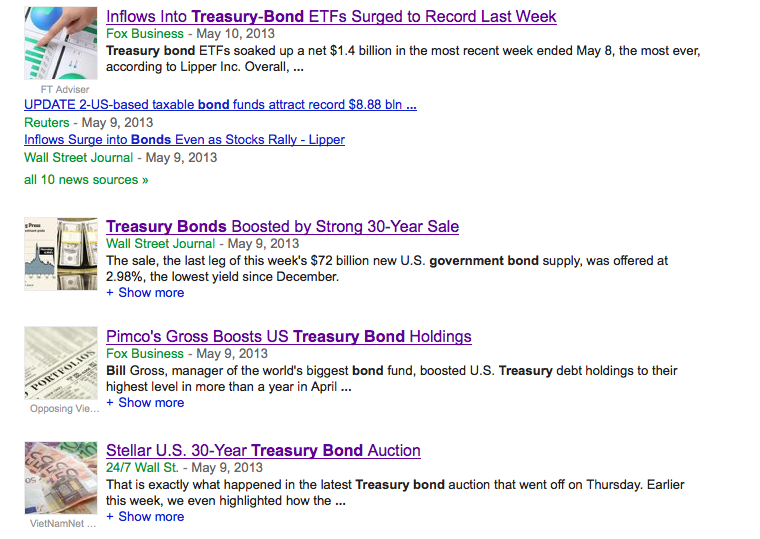 treasury bond google search