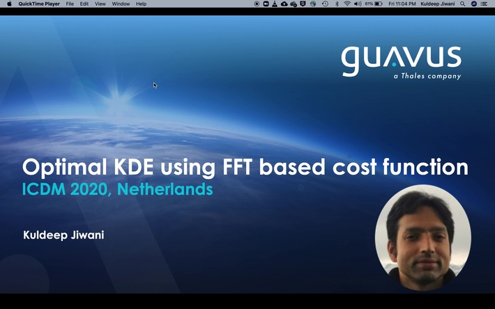 ICDM 2020: Optimal Kernel Density Estimation using FFT based cost function