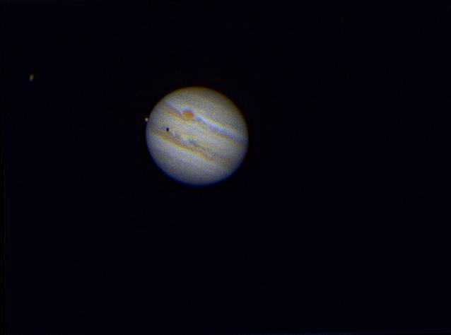 Io, Ganymede, and Jupiter