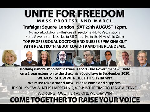 Live From Trafalgar Square, London:  Unite For Freedom Mass Protest & March