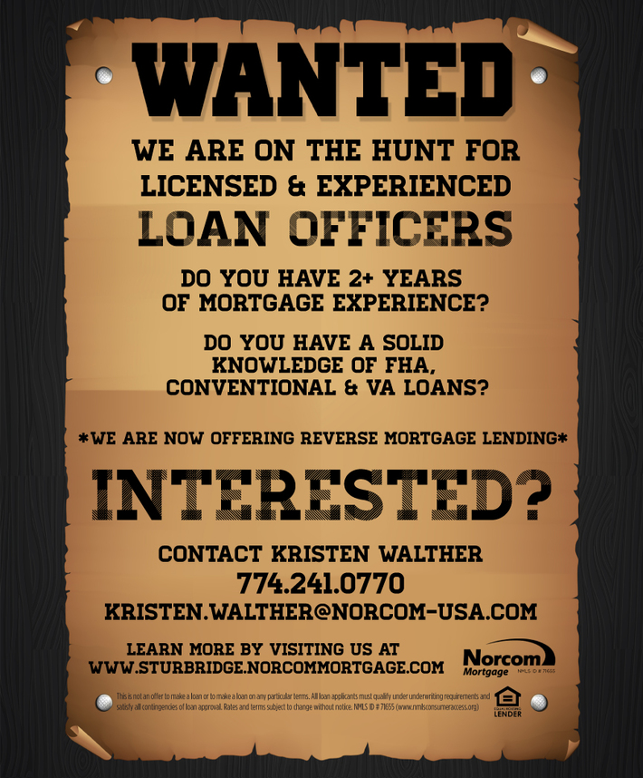 WANTED LOAN OFFICERS