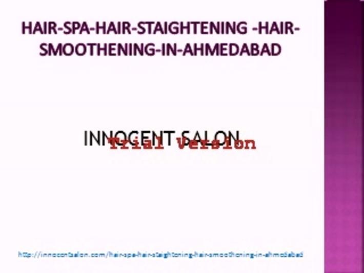 Famous Hair Spa, Hair Straightening, Hair Rebonding, Hair Cut in Ahmedabad