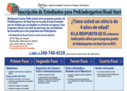 Inscripción de Estudiantes para Prekindergarten/Head Start