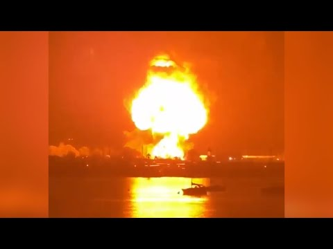 Explosion sends huge fireball into the sky