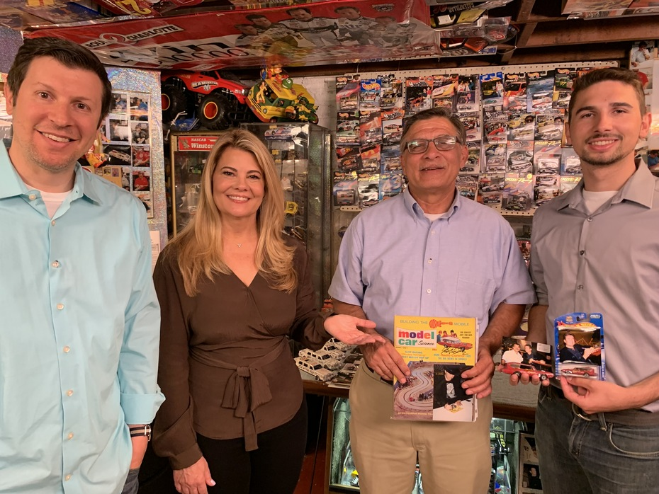 Was On, MeTV's Collector's Call, S2E6, Meet Fred,with Lisa Whelchel, showing our autographed HUSKY, 1/64 SCALE monkeemobile,