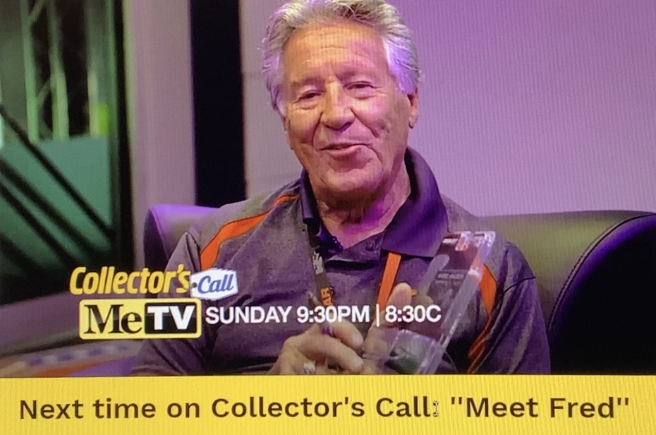 I was On, MeTV's, Collector's Call, S2E6, Meet Fred,with, Lisa Whelchel, shown was a video of, Mario Andretti, Signing a diecast  for me