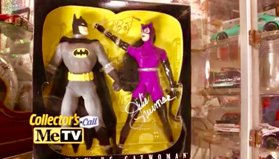 I was On, MeTV's, Collector's Call, S2E6, Meet Fred,with, Lisa Whelchel, shown was our, Batman, and, Catwoman, figure set