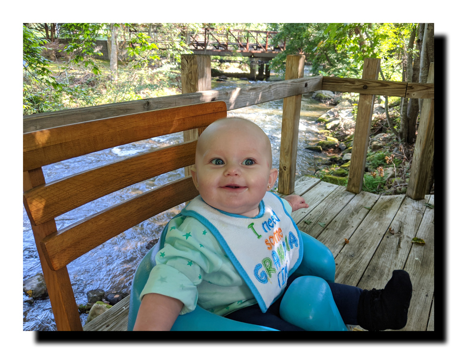 erin on the deck