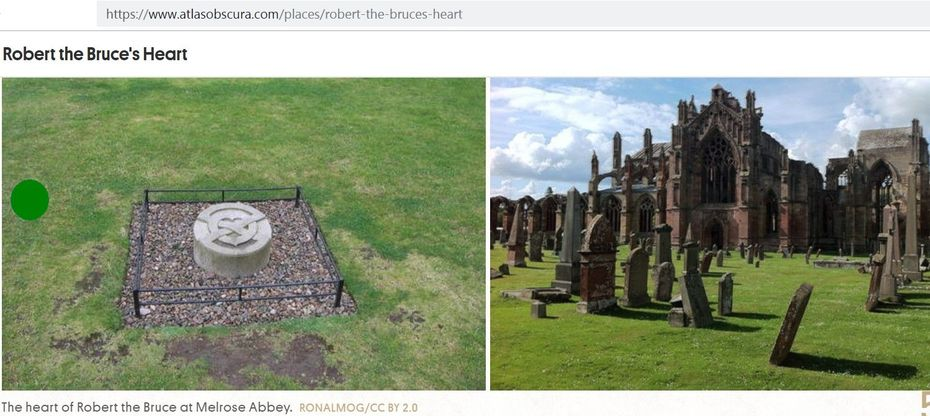 Robert the Bruce's Heart Melrose Abbey