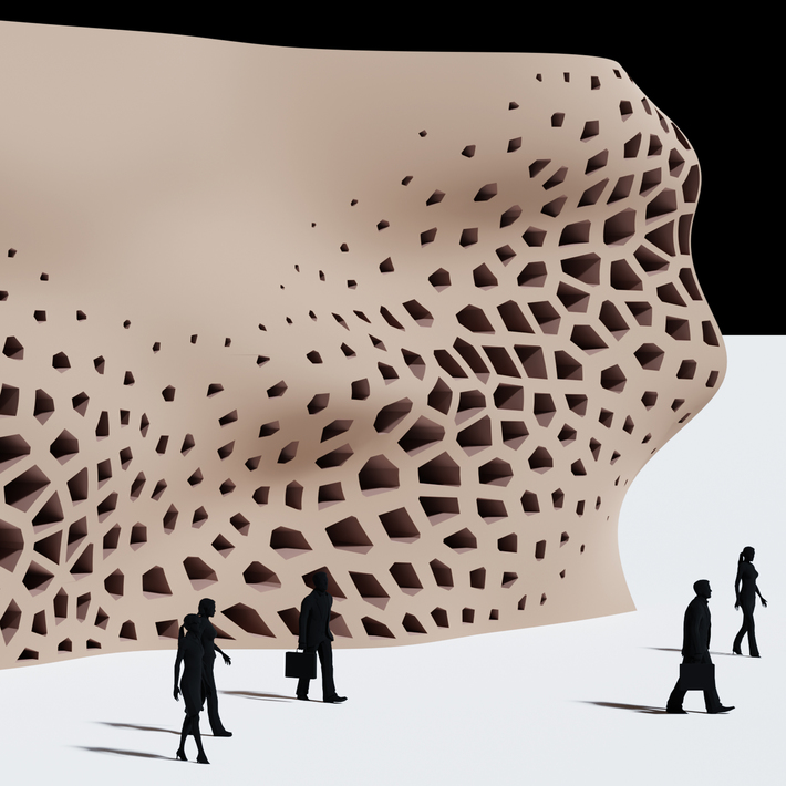 Voronoi Wall Pattern Curve Attractor