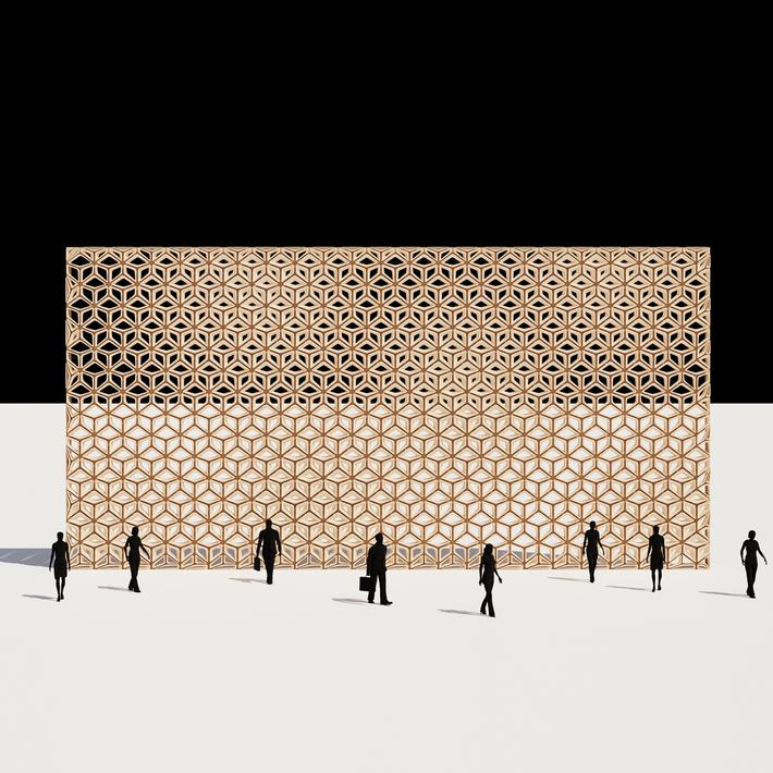 Hexagon Tile Wall Pattern