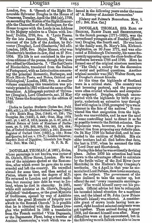 SYLVESTER DOUGLAS Baron Glenbervie 1st and last 1743 1823 1