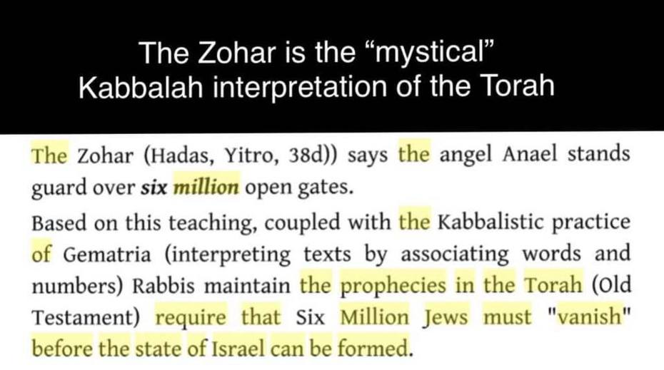 The Zohar and The Torah,6,000,00 Jews Must Vanish,The Holohoaxed