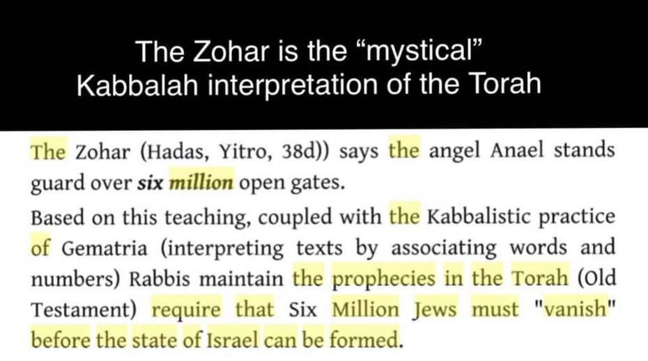 The Zohar and The Torah,6,000,00 Jews Must Vanish,The Holohoaxed