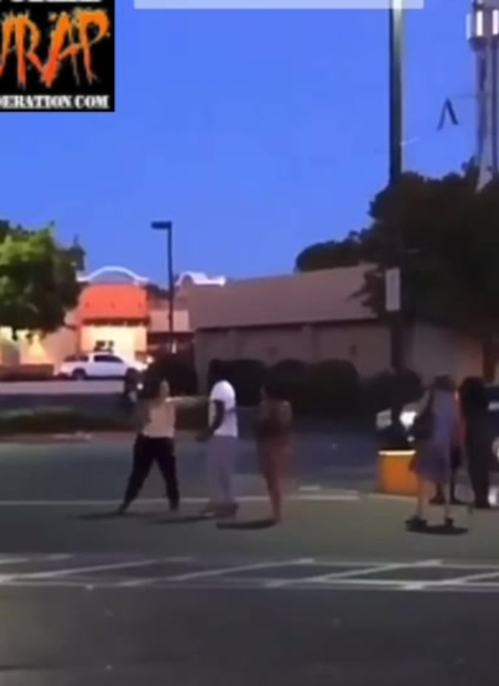 Parking lot fight turns into Bumper Cars