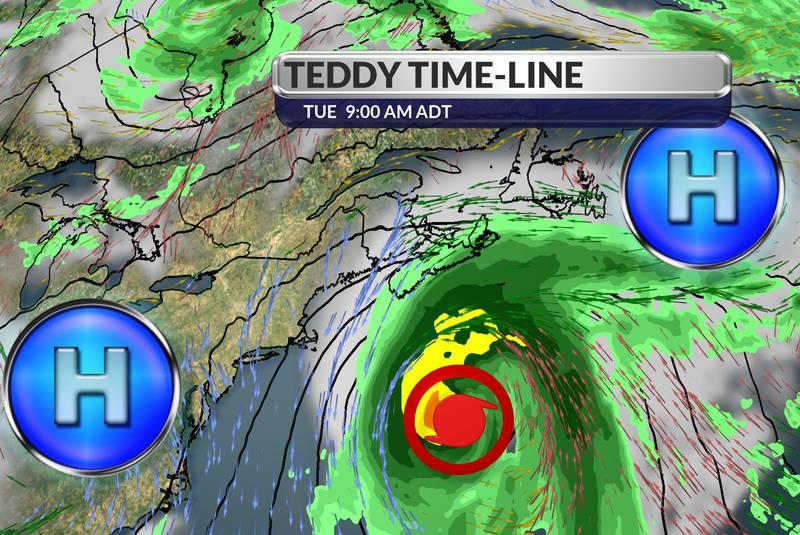 Hurricane Teddy races towards Eastern Nova Scotia Sept 22 2020