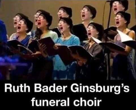 Ruth Bader Ginsburg's funeral choir