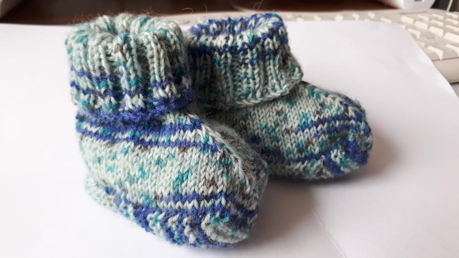 babyschuehchen in blau