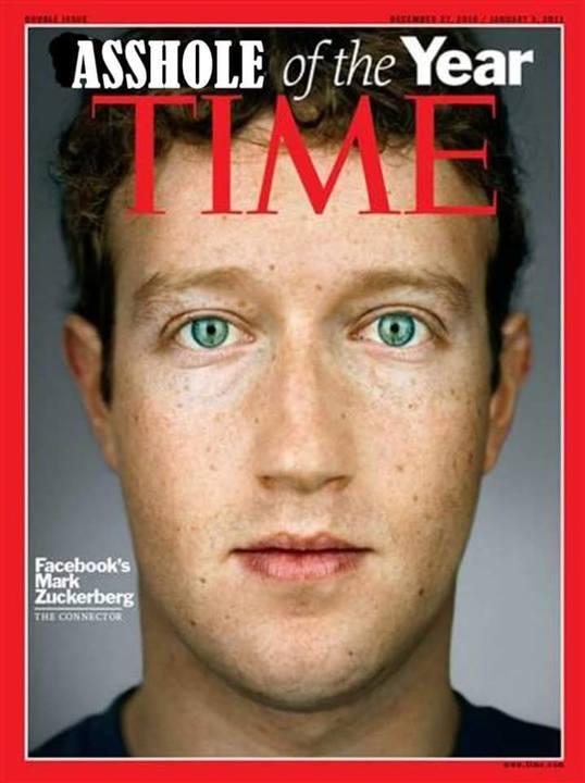 TIME's AssHole of the Year - Jewtard Mark Zuckerberg
