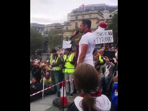 Gareth Icke Anti lockdown speech at Trafalgar Square - September 26th 2020