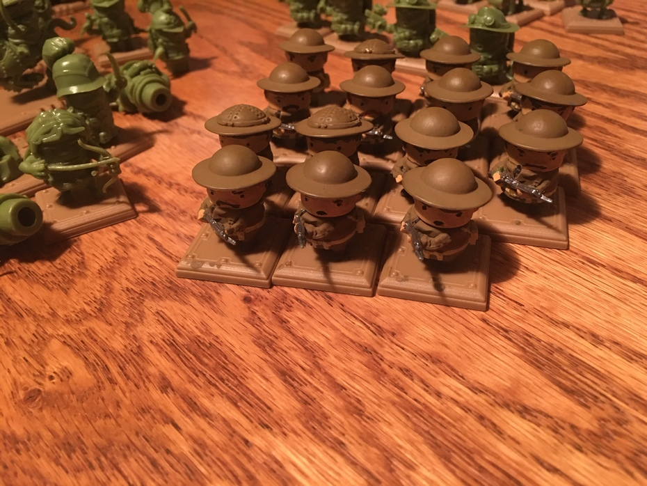 Painted Allied Riflemen