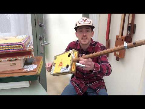 How to build a cigar box  diddley bow