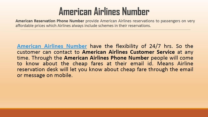 Reserve American Flight Ticket - American Airlines Number