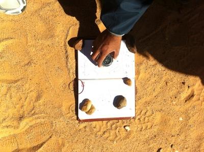 Field team work in the desert of ténéré (NIGER)
