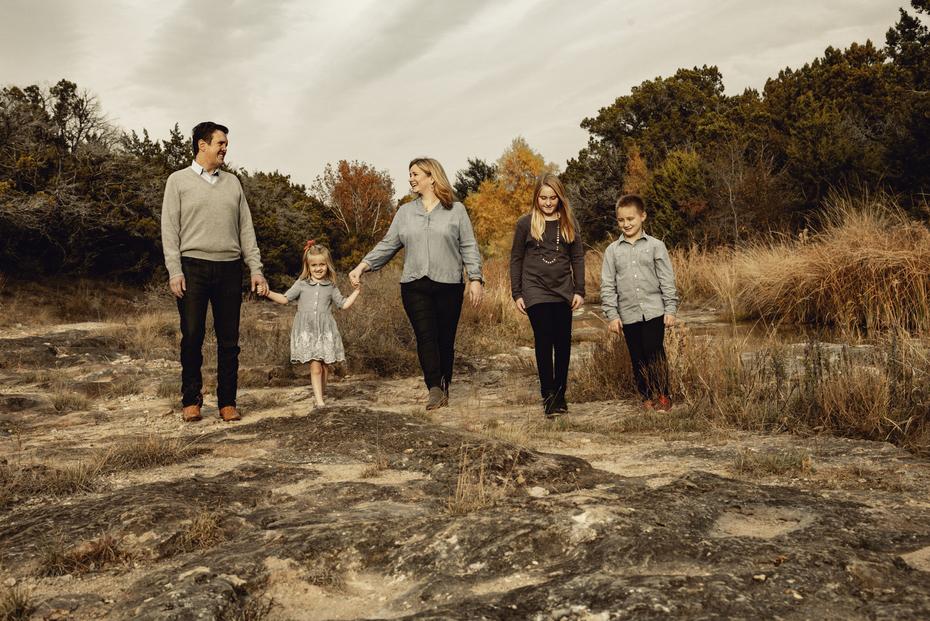 Hamilton Lindley Family in Marble Falls, Texas