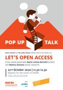 Pop-up talk: Let's Open Access