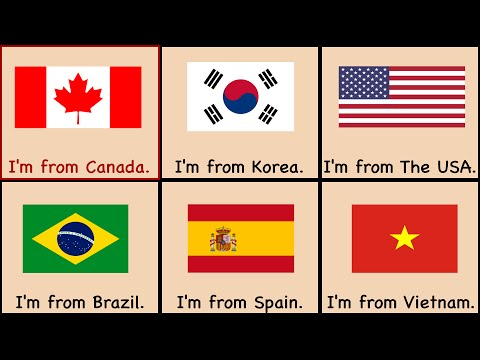 4. Countries Song | Where Are You From?