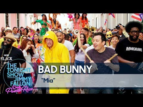"""Bad Bunny and Jimmy Perform """"MIA"""" on the Streets of Old San Juan"""