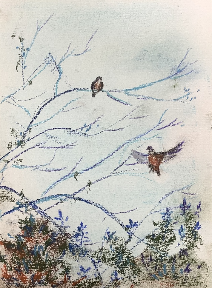 L'oiseau s'envole, plus léger qu'une parole