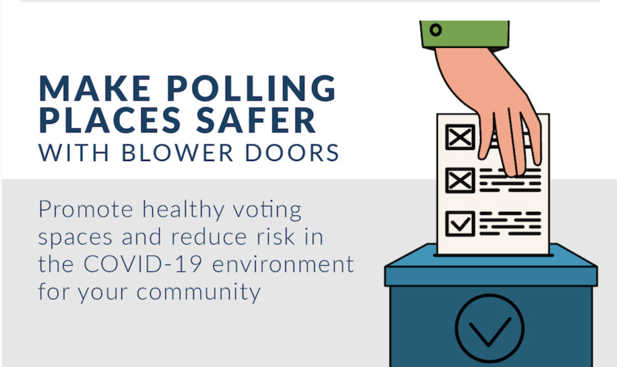 Make polling places safer with blower doors