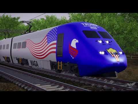 Trump Train DEMOLISHES Joe Biden's Ice Cream Truck