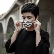 origami face mask wearable architecture