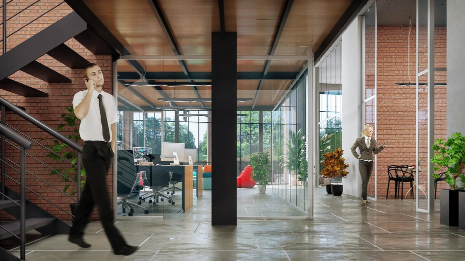 Návrh interiéru administratívnych priestorov v Poprade 5