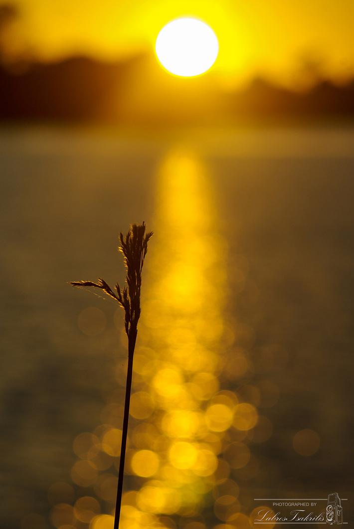 Δειλινό στην λίμνη Καϊάφα...