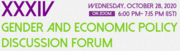 XXXIV Gender and Economic Policy Discussion Forum: Assessing the gendered implications of the National Education Policy 2020 on higher education in India